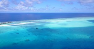 V15255 maldives white sand beach tropical islands with drone aerial flying birds eye view with aqua blue sea water and. Maldives white sand beach tropical stock footage