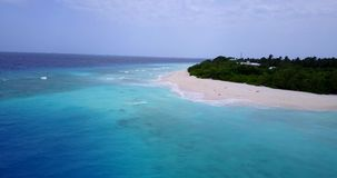 V15442 maldives white sand beach tropical islands with drone aerial flying birds eye view with aqua blue sea water and. Maldives white sand beach tropical stock video
