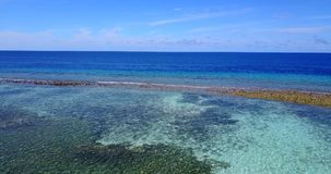 V14502 maldives white sand beach tropical islands with drone aerial flying birds eye view with aqua blue sea water and Stock Photo