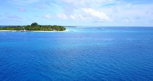 V14796 maldives white sand beach tropical islands with drone aerial flying birds eye view with aqua blue sea water and Stock Photography