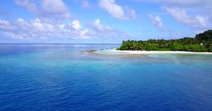 V12327 maldives white sand beach tropical islands with drone aerial flying birds eye view with aqua blue sea water and Stock Image