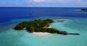 V13710 maldives white sand beach tropical islands with drone aerial flying birds eye view with aqua blue sea water and Stock Images