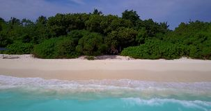 V13515 maldives white sand beach tropical islands with drone aerial flying birds eye view with aqua blue sea water and Stock Photos