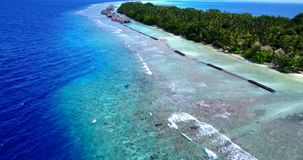 V14776 maldives white sand beach tropical islands with drone aerial flying birds eye view with aqua blue sea water and Stock Image