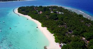 V11482 maldives white sand beach tropical islands with drone aerial flying birds eye view with aqua blue sea water and Royalty Free Stock Photos