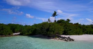 V15402 maldives white sand beach tropical islands with drone aerial flying birds eye view with aqua blue sea water and Royalty Free Stock Photos