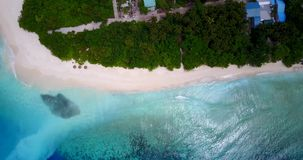 V13701 maldives white sand beach tropical islands with drone aerial flying birds eye view with aqua blue sea water and Stock Images