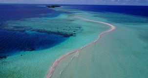 V12258 maldives white sand beach tropical islands with drone aerial flying birds eye view with aqua blue sea water and Stock Image