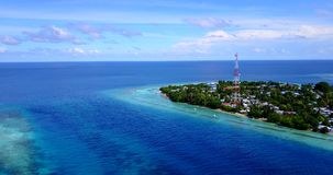 V15420 maldives white sand beach tropical islands with drone aerial flying birds eye view with aqua blue sea water and Royalty Free Stock Images