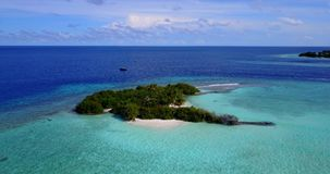 V13725 maldives white sand beach tropical islands with drone aerial flying birds eye view with aqua blue sea water and Royalty Free Stock Photos