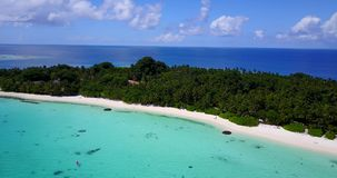 V15340 maldives white sand beach tropical islands with drone aerial flying birds eye view with aqua blue sea water and Royalty Free Stock Photography