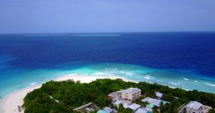 V11700 maldives white sand beach tropical islands with drone aerial flying birds eye view with aqua blue sea water and Royalty Free Stock Photo