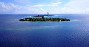 V11672 maldives white sand beach tropical islands with drone aerial flying birds eye view with aqua blue sea water and Royalty Free Stock Images