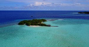 V13745 maldives white sand beach tropical islands with drone aerial flying birds eye view with aqua blue sea water and Stock Photography