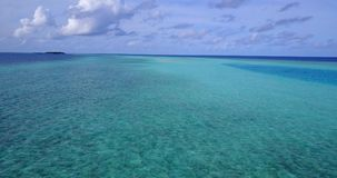 V13564 maldives white sand beach tropical islands with drone aerial flying birds eye view with aqua blue sea water and Royalty Free Stock Photo