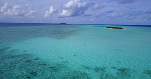 V13533 maldives white sand beach tropical islands with drone aerial flying birds eye view with aqua blue sea water and Stock Photo
