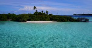 V12516 maldives white sand beach tropical islands with drone aerial flying birds eye view with aqua blue sea water and Stock Photography