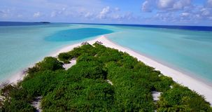 V12563 maldives white sand beach tropical islands with drone aerial flying birds eye view with aqua blue sea water and Royalty Free Stock Photography