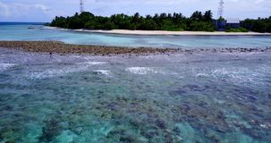 V15111 maldives white sand beach tropical islands with drone aerial flying birds eye view with aqua blue sea water and Stock Photography