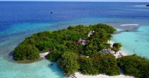 V13538 maldives white sand beach tropical islands with drone aerial flying birds eye view with aqua blue sea water and Stock Photography