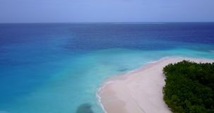 V15110 maldives white sand beach tropical islands with drone aerial flying birds eye view with aqua blue sea water and Stock Photo