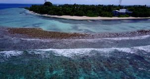 V15075 maldives white sand beach tropical islands with drone aerial flying birds eye view with aqua blue sea water and Royalty Free Stock Images