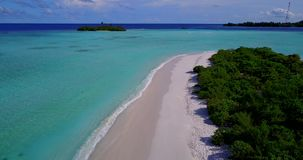 V15384 maldives white sand beach tropical islands with drone aerial flying birds eye view with aqua blue sea water and Stock Photography