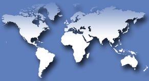 v mapy świata Zdjęcie Stock