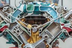 V-8maschinen-Cutaway Stockbilder