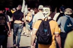V maska zdjęcie stock