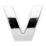 V - Metal letter Stock Photos