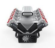 V8 Motor van een auto Stock Afbeelding