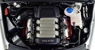 V6 motor van een auto Royalty-vrije Stock Foto's