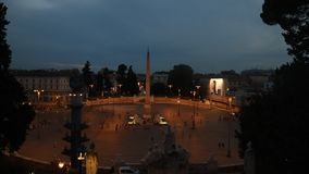 V na opinião da noite de Roma video estoque