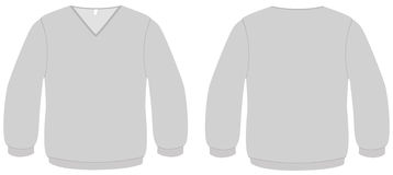 V-neck sweater template vector illustration Royalty Free Stock Photo