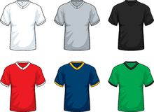 V-Neck T-shirts Stock Photo