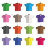 V neck tshirts Stock Photos