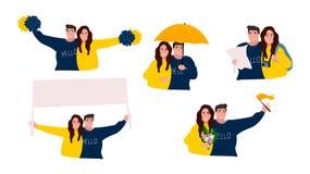 V?nner som tillsammans spenderar Tid vektor illustrationer