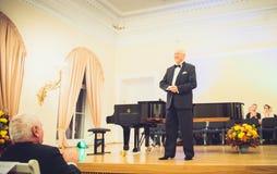 V Noreika, cantante de la ópera Fotografía de archivo