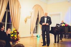 V Noreika, cantor da ópera Foto de Stock Royalty Free