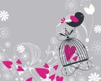 Vôo bonito do pássaro Fotos de Stock Royalty Free