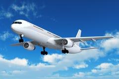 Vôo do avião de passageiros do passageiro Fotos de Stock