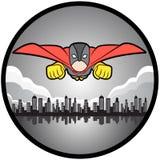 Vôo do super-herói Imagem de Stock Royalty Free
