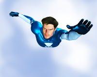 Vôo masculino do super-herói Imagens de Stock Royalty Free