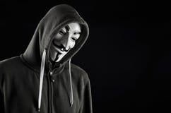 V per la maschera di Guy Fawkes o di faida Fotografie Stock Libere da Diritti
