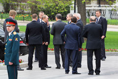 V.Putin, bodyguards and State Duma deputies Royalty Free Stock Image