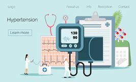 V?rd- begrepp av hypotension och h?gt blodtryck royaltyfri illustrationer