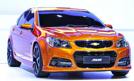 V8 rear-wheel-drive Chevrolet SS Concept Royalty Free Stock Photo