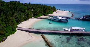 V12902 resort in maldives white sand beach tropical islands with drone aerial flying birds eye view with aqua blue sea Royalty Free Stock Photo