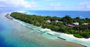V12882 resort in maldives white sand beach tropical islands with drone aerial flying birds eye view with aqua blue sea Royalty Free Stock Image